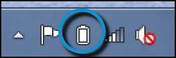 Icône de l'indicateur de charge de la batterie