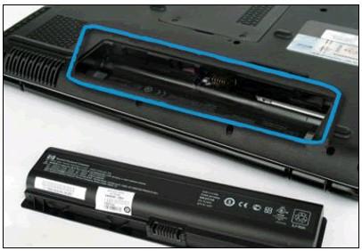 Étiquette d'identification dans le compartiment de la batterie
