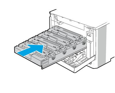 Push the cartridge drawer in