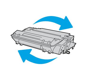 Widok elementów wkładu z tonerem