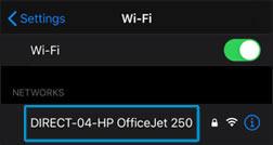 Seleccione el nombre de su impresora Wi-Fi Direct en la lista