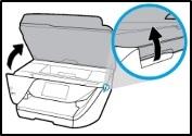 Opening the cartridge access door