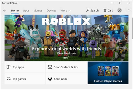 Microsoft Store home page