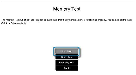Memory Fast Test