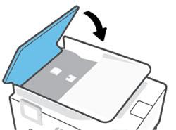 De klep van de automatische documentinvoer laten zakken