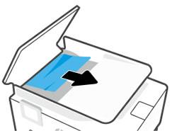Å fjerne fastkjørt papir fra ADM-innskuffområdet