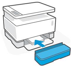 Remise en place du cache du bac d'alimentation