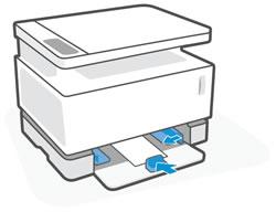 Kağıt kılavuzlarını içe doğru kaydırma