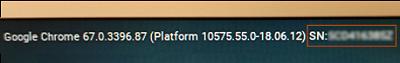 在登入畫面找出 HP 序號