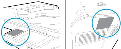 Przykłady położenia kieszeni HIP2 w drukarce