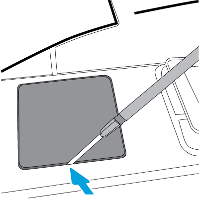 Otwórz pokrywę kieszeni HIP2