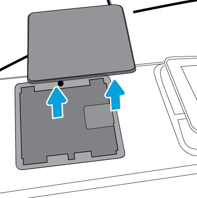 Zdejmij pokrywę kieszeni HIP2