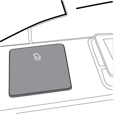 Urządzenie HP Jetdirect przymocowane do kieszeni HIP2