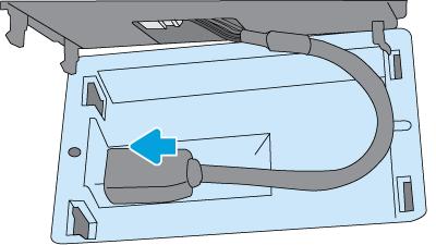 Podłącz złącza USB typu mini-B kabla do portu w kieszeni HIP2