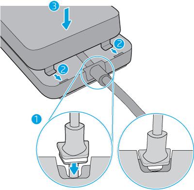 Podłączanie urządzenia HP Jetdirect do osłony modułu