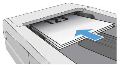 Włóż oryginalny dokument do podajnika dokumentów