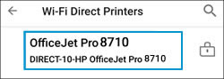 Selecting the your printer from the list