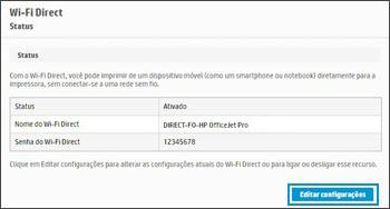 Clicar ou tocar em Editar Configurações
