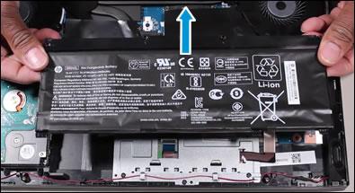 De batterij verwijderen