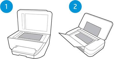 Exemplos de tipos de scanner