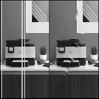 Exemplos de baixa qualidade de fax