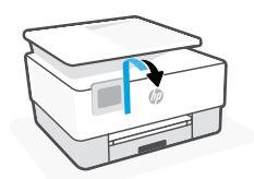 Entfernen des Klebebands vom Drucker