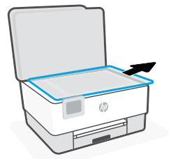 Entfernen des Verpackungsmaterials vom Scannerbett