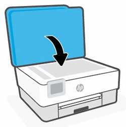 Schließen der Scannerabdeckung