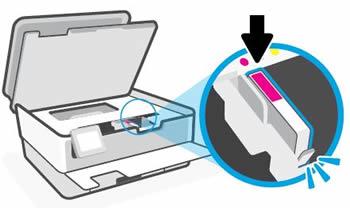 Instalar o cartucho de tinta