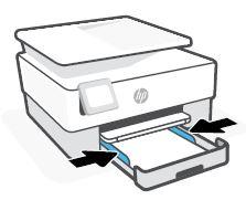 Deslizar as guias de largura do papel para dentro