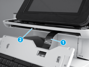 Install the flat cable through the slot