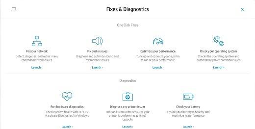 Pestaña Correcciones y diagnósticos