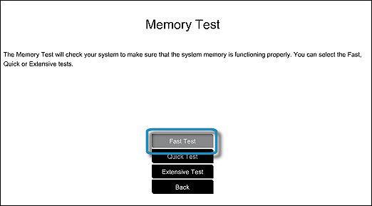 Test rapide de la mémoire