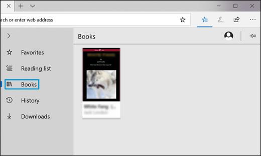 Hacer clic en el icono Libros