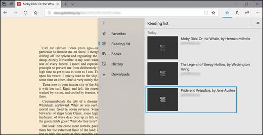 Открытие веб-сайта из списка для чтения