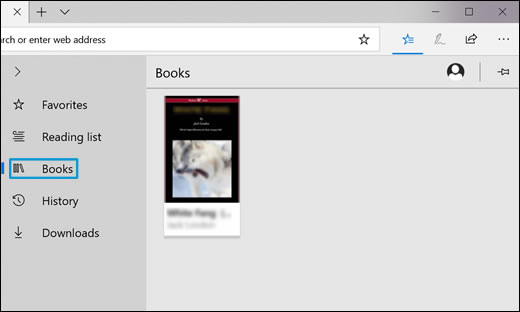 Klicka på ikonen Böcker