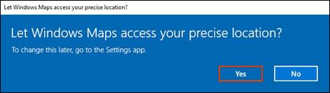 Appen Kort anmoder om adgang til din placering