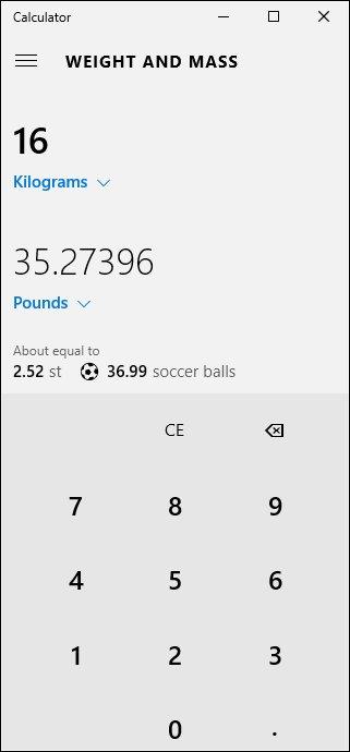 Umrechner mit Gewichts- und Masseumrechnung