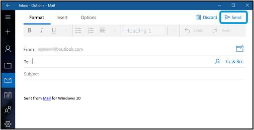 Erstellen und Senden einer neuen E-Mail