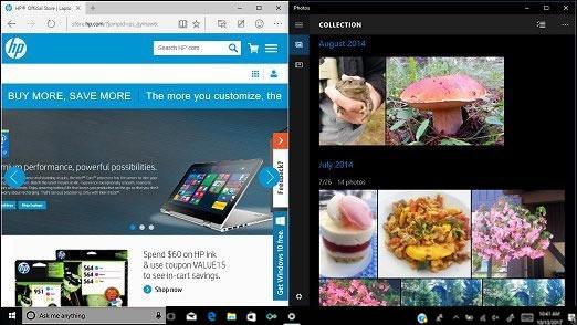 Dos actividades acopladas en la pantalla