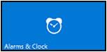 Icono de Alarmas y reloj