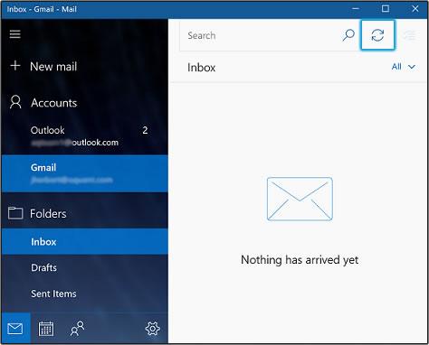 Uw e-mail synchroniseren