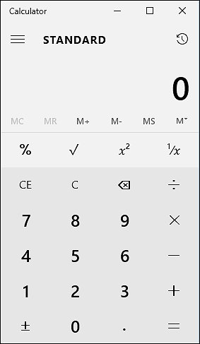 Calculadora padrão