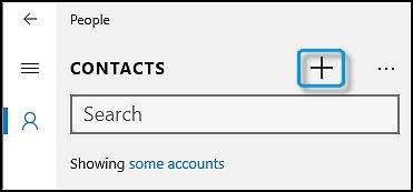 Abrir a tela Adicionar contato