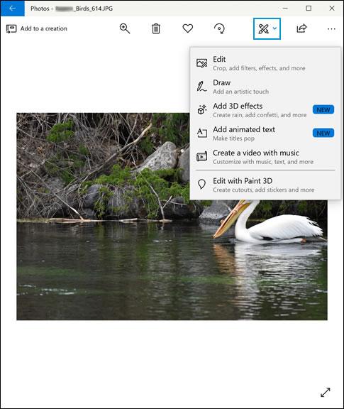 Como abrir ferramentas adicionais de edição de fotos