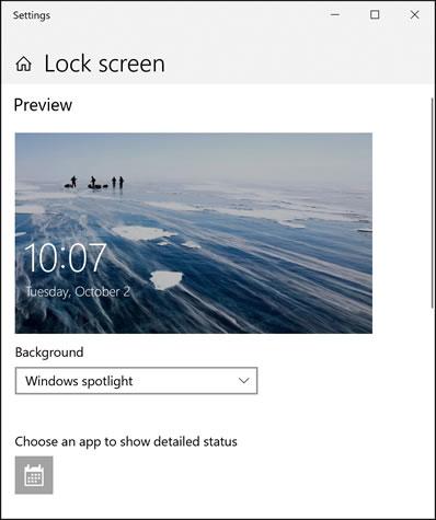 Параметры экрана блокировки