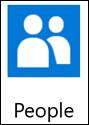 連絡人應用程式 - 大型動態磚