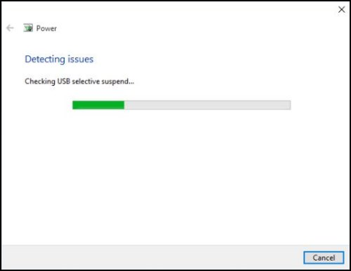 Detecting issues window