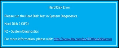 Identifying the hard disk 3F0 error