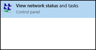 Search results for view network status